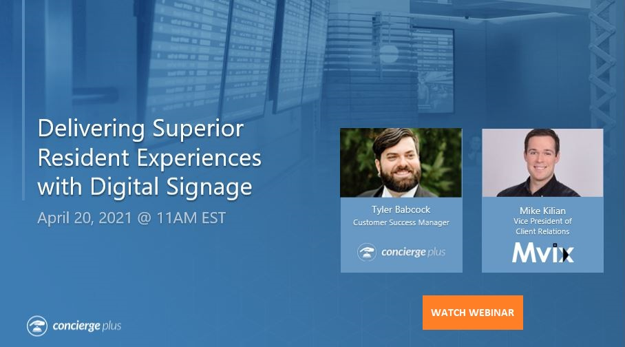 Delivering Superior Resident Experiences with Digital Signage