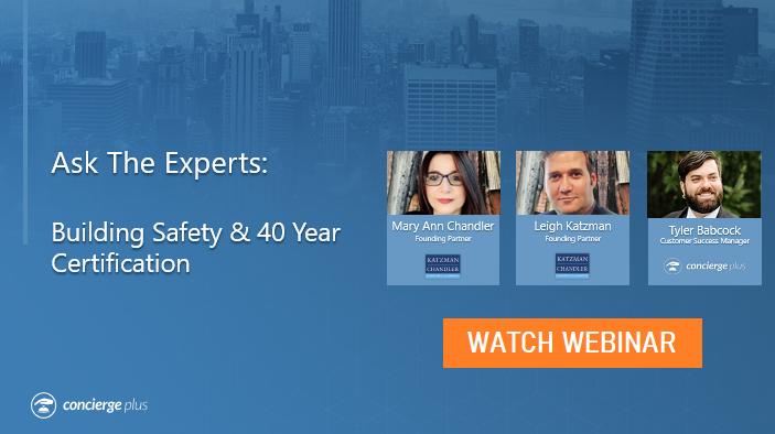 Webinar Building Safety & 40 Year Certification Concierge Plus