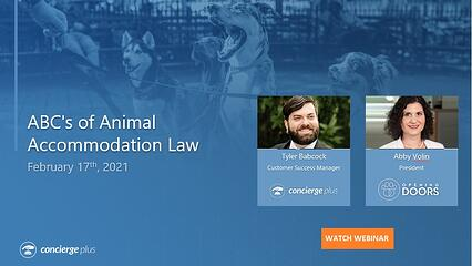 Webinar The ABCs of Animal Accommodation Laws Concierge Plus