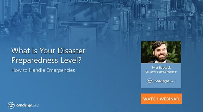 How to handle emergencies webinar Concierge Plus 1